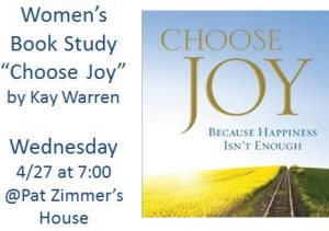 Choose Joy Book Study